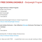 2 Awesome FREE Bodyweight Workout Programs For You