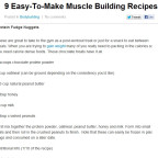 9 Easy-To-Make Muscle Building Recipes