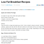 Low Fat Breakfast Recipes