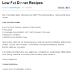 Low Fat Dinner Recipes