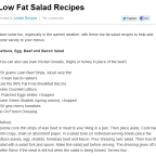 Low Fat Salad Recipes