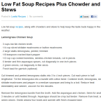 Low Fat Soup Recipes Plus Chowder and Stews